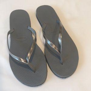 Havaianas You Metallic Flip Flop Steel Grey/Silver